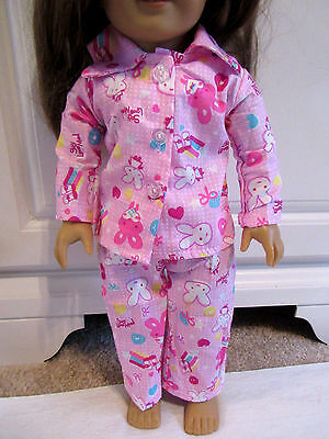 "18/"" Girl Doll LOVE PINK Polka Dot Pajamas for My life AG Our Generation NWOT"