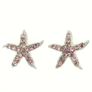 c13b69518 Image is loading Starfish-W-Swarovski-Crystal-Pink-Color-Ocean-Sea-