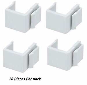 Blank Insert Keystone Snap-in for Wall Plate White 50 pcs