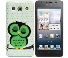 Hülle f Huawei Ascend G510 Schutzhülle Tasche Case Cover TPU Silikon Eule Owl