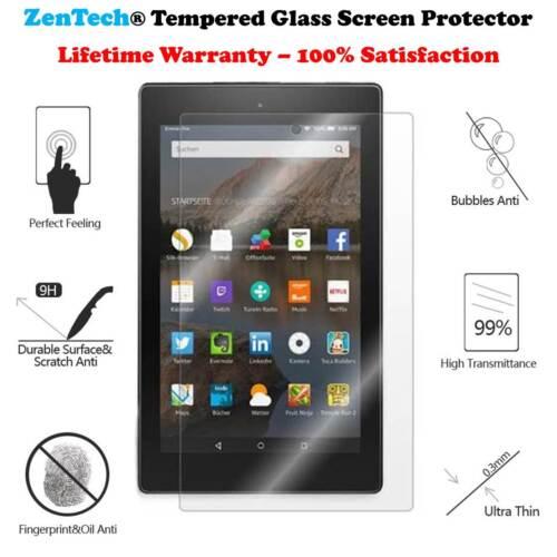 8th Gen, 2018 ZenTech Tempered Glass Screen Protector For Amazon Fire HD 8