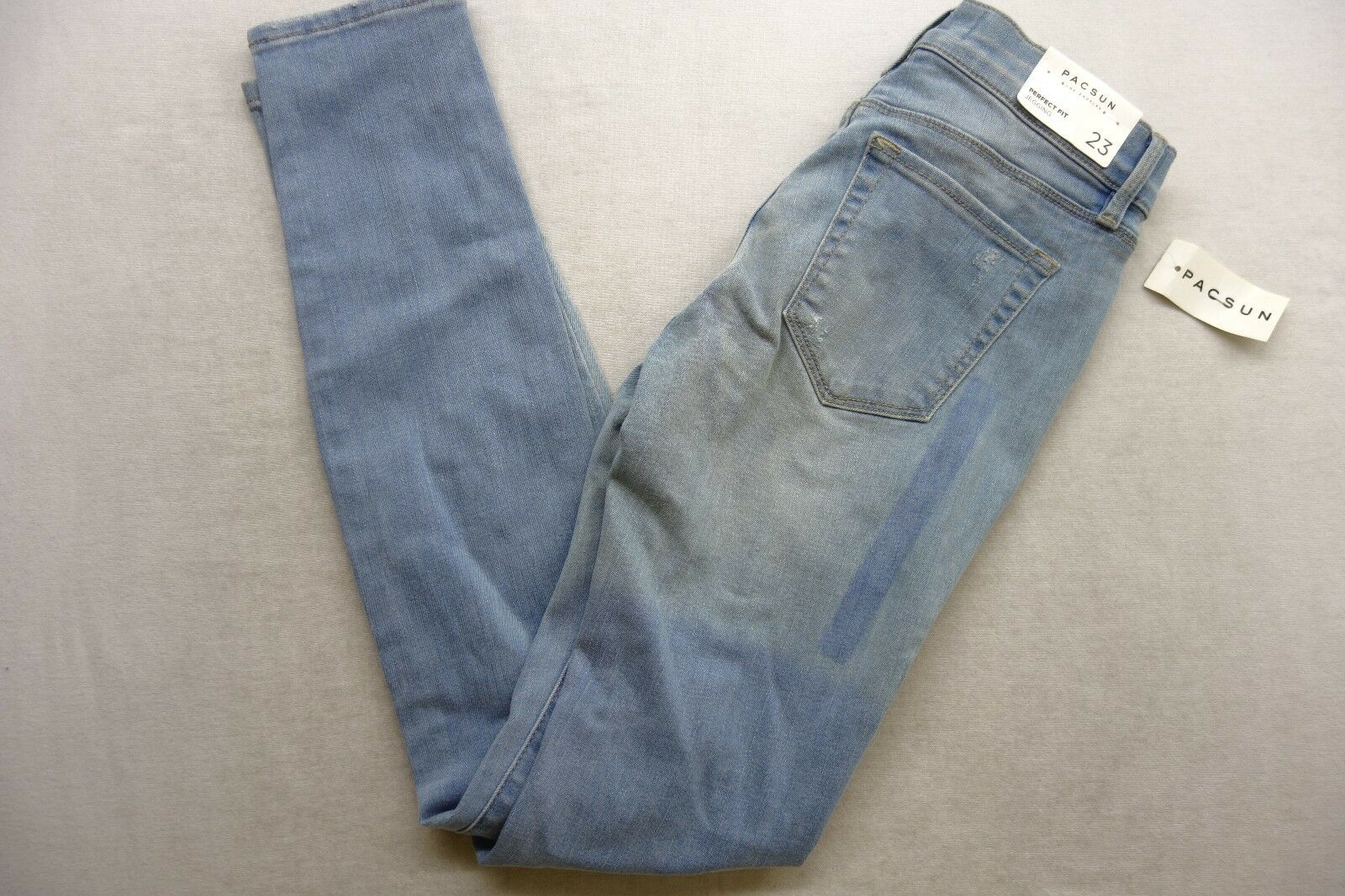 New Womens Pacsun Perfect Ankle Jegging Stretch Distressed Denim Jeans 23 x 29