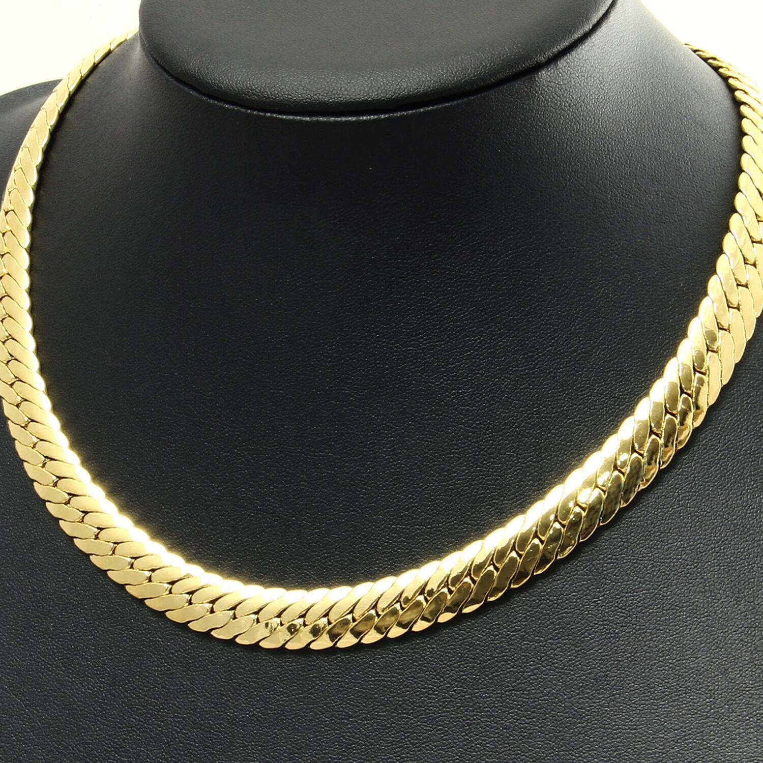 Snake Chain 0 7 16in 750 Yellow gold 18 Carat gold Plated Unisex K1122