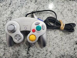 Genuine-OEM-Nintendo-GameCube-Controller-Platinum-Silver-DOL-003-Tested