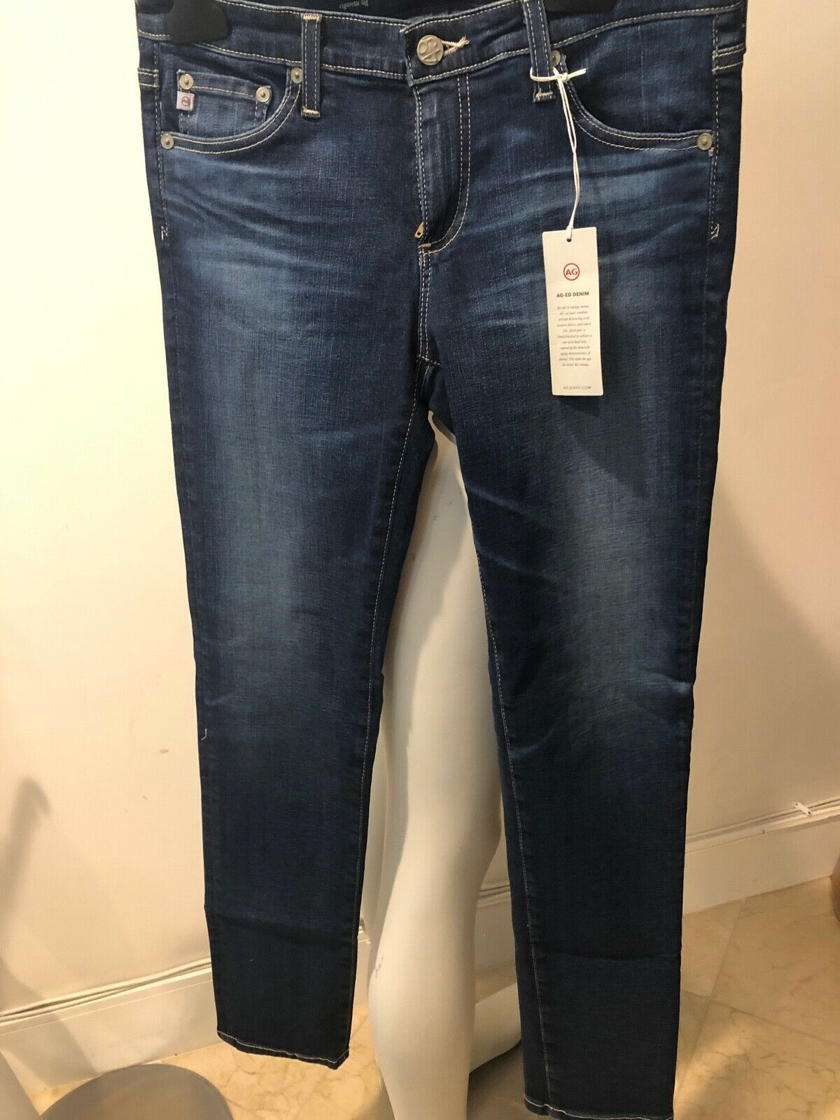 NWT    ADRIANO goldSCHMIED THE STILT CIGARETTE LEG JEANS SIZE 28   SHARWEI