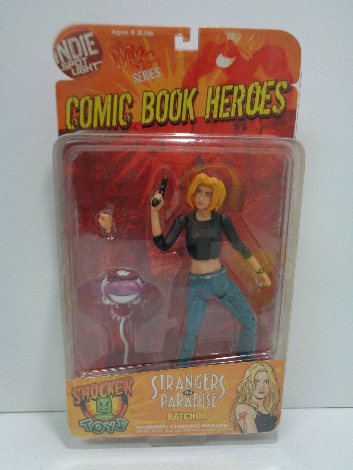 STRANGERS IN PARADISE Comic Book Heroes KATCHOO Shocker Toys 2009 MOC