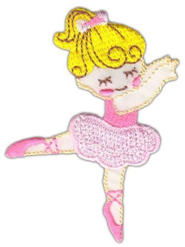ao50 Ballerina Tänzerin Ballett Aufnäher Bügelbild Applikation Kinder Tanzen