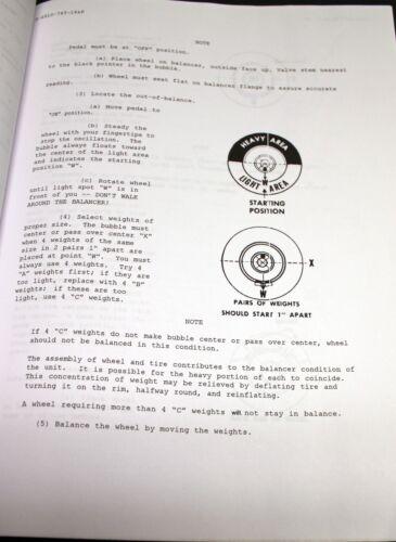 Coats M-76 Bubble Balancer Manual and Parts List