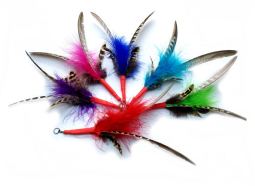 Purrs Feather Spinning Attachments 3 Pack -Fits PurrSuit DaBird Rods Frenzy