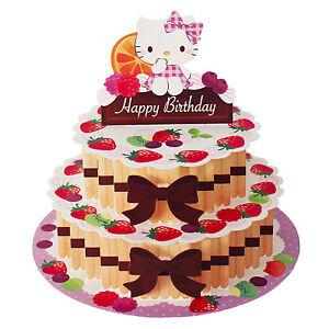 Image Is Loading Hello Kitty Happy Birthday Layered Cake Pop Up