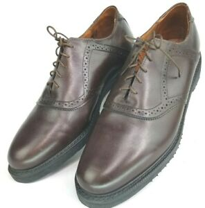 Men-039-s-E-T-Wright-Brown-Leather-Saddle-Oxford-Dress-Shoes-Size-9-5-EE