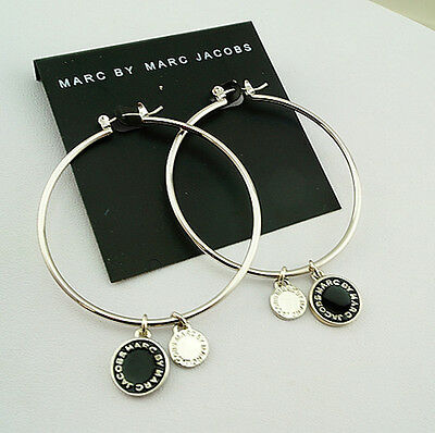 Marc By Marc Jacobs 7Colors Circle Series Letters Disc Pendants Earrings #E015X
