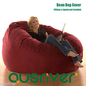 Super-Large-Luxury-Seat-Feeling-Bean-Bag-Beanbag-Cover-Suede-Round-Loveseat