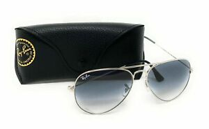 Ray Ban RB3025 003/32 Sunglasses Aviator 58 mm Light Grey Lens Silver Frame