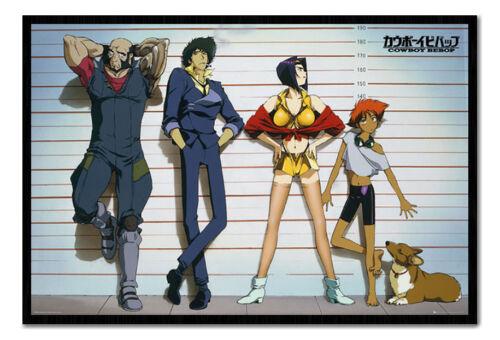 Cowboy Bebop Line Up Anime Poster Magnetic Notice Board Inc Magnets