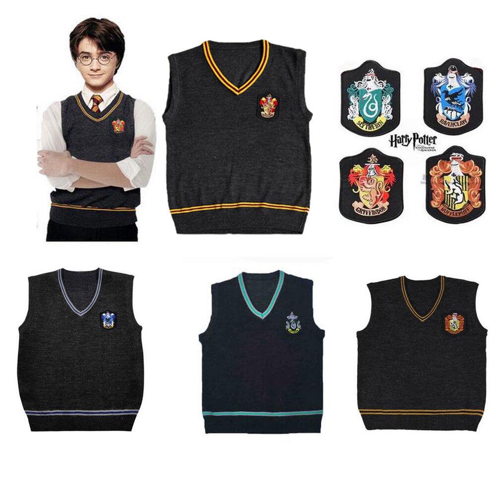 Harry Potter Vest Tie Scarf Set Gryffindor Sweater School Uniform Costume Outfit