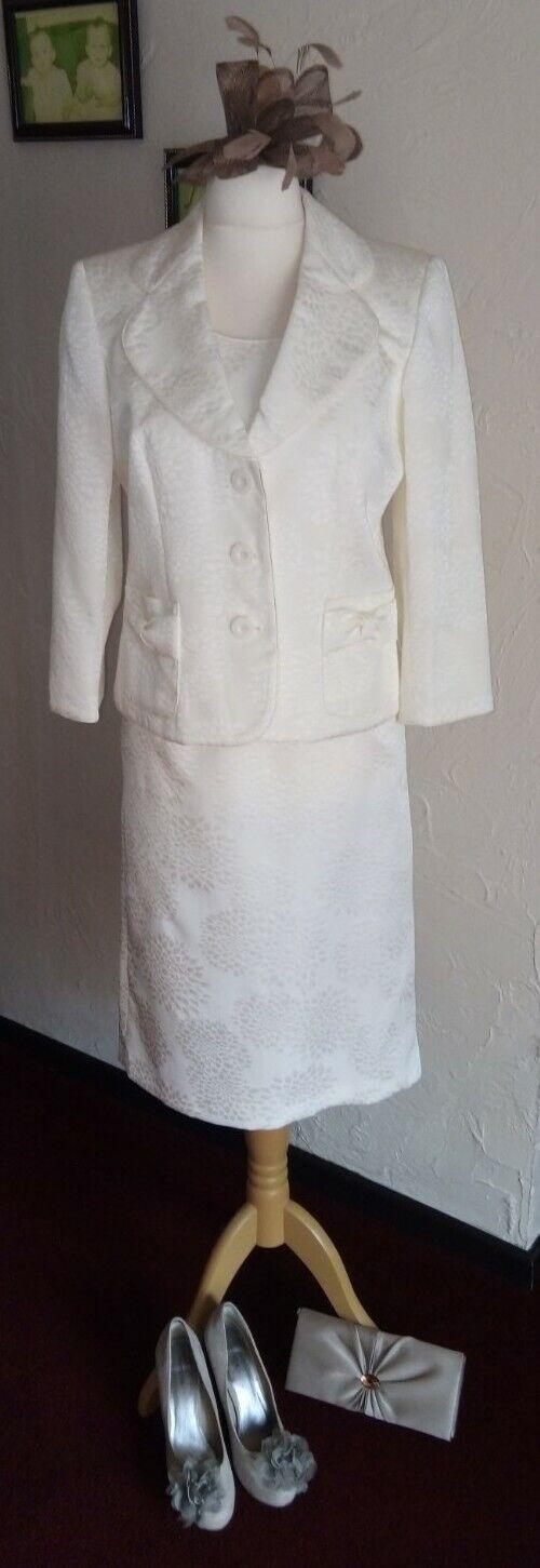 Complete wedding outfit (ROMAN ORIGINALS dress/Jacket + shoes/bag/fascinator)