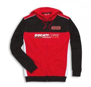 DUCATI Corse Sweatshirt Pullover Hoodie JORGE LORENZO #99 MOTO GP NEU