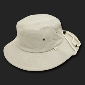 7 Colors Available Decky Aussie Hat with Drawstring Boonie Hat L//XL Stone