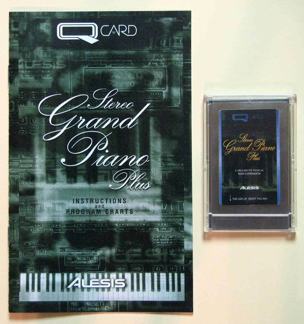Alesis Stereo Grand Piano Plus QCard W Booklet, Case, LIFETIME Garantie QS Card
