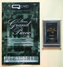 Alesis Stereo Grand Piano Plus QCard W/Booklet, Case, LIFETIME Warranty QS Card