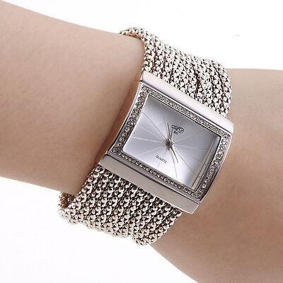 Noble Jewelry Bracelet Watch Women Lady Quartz Wristwatch Vintage Rectangle Dial