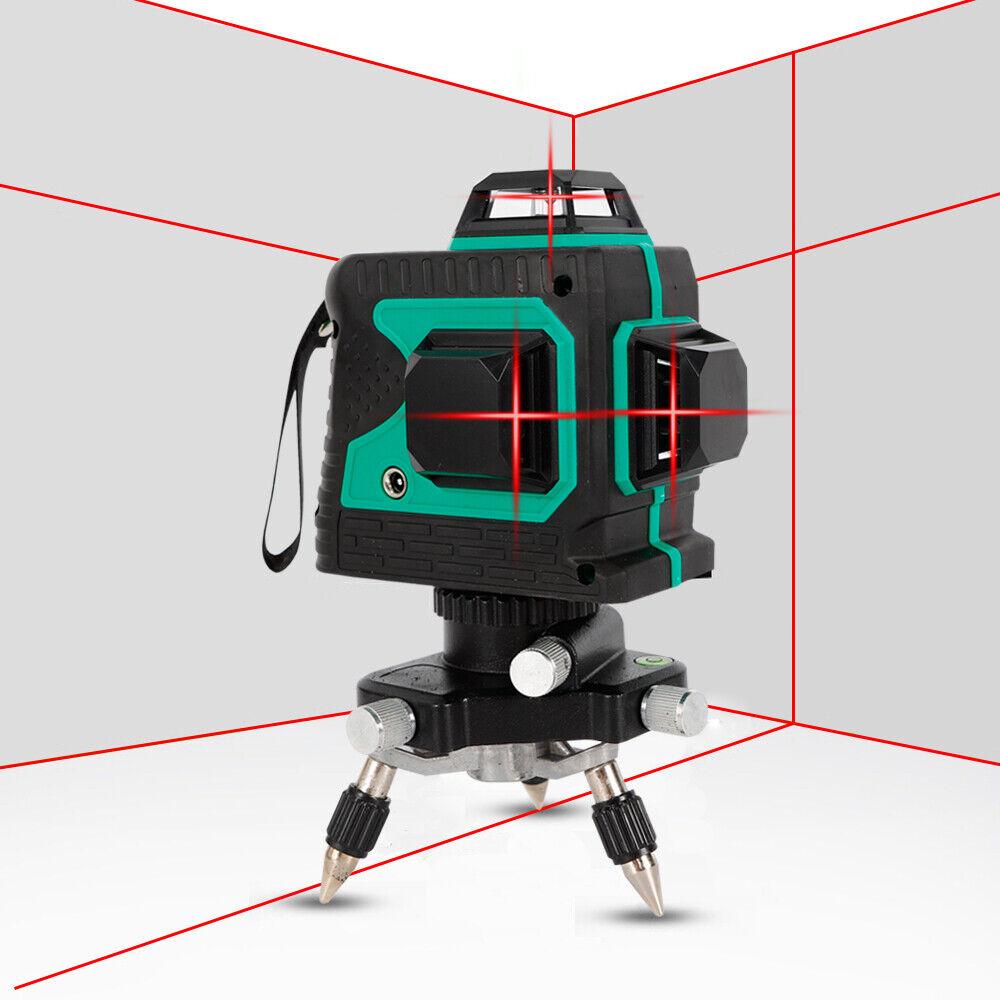 12 Line Light Laser Level Auto Self Leveling 360° redary Measure Red Laser