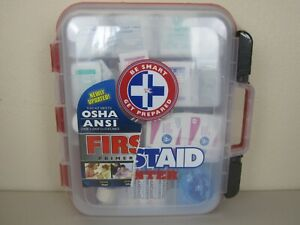 First Aid Kit Hard Case 326 Pieces - Meets OSHA and ANSI Guidelines (New Sealed)