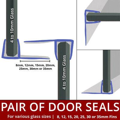 F Shape Shower Seal Strips Vertical, Glass Shower Door Rubber Seal Strip