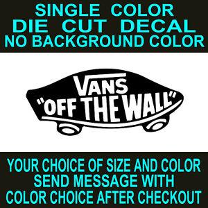 a82fbbc7ee Vans Off The Wall die cut vinyl decal car truck window toolbox ...