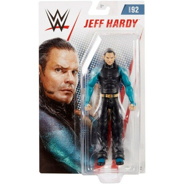 WWE JEFF HARDY BOYS MATTEL BASIC SERIES 92 WRESTLING ACTION FIGURE TOY FIGURINE
