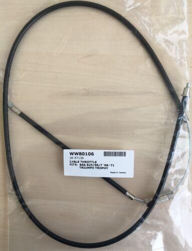 C25 Barracuda BSA 1968-70 80106 40-8657 B25 Starfire Throttle Cable