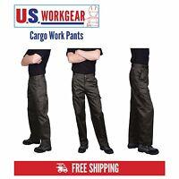 Cargo Work Pants Men, Military Security Trouser, Navy Black 30-48 Portwest C701