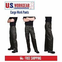 Cargo Work Pants Men, Military Security Trouser, Navy Black 30-48 Portwest C701