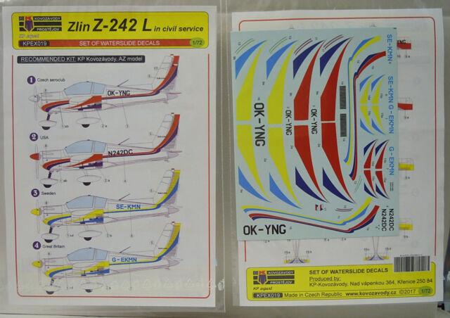 Décalcomanie Zlín Z-242 L Civile, KP , 1:72, Sticket, Neuf