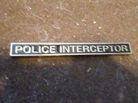 Dodge Charger Ford Crown Victoria Police Interceptor 5 Inch Metal Emblem Badge