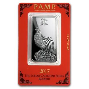 2017 1 Oz Pure 999 Silver Year Of The Rooster Pamp