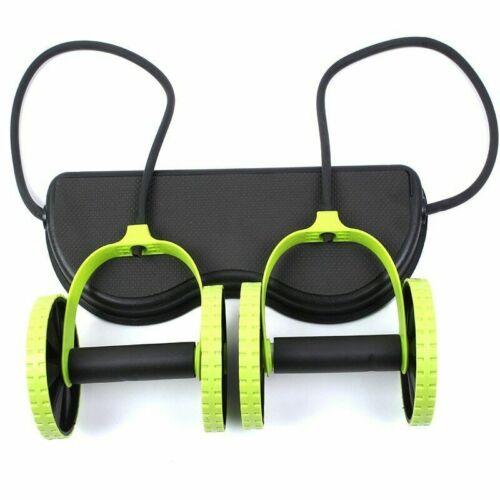 Power Roll Ab Roller Wheel Trainer für Bauch und Ganzkörpertraining Fitness DE