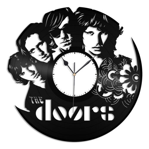 The Doors Vinyl Wall Clock Music Record Musicians The Doors Home Room Decoration