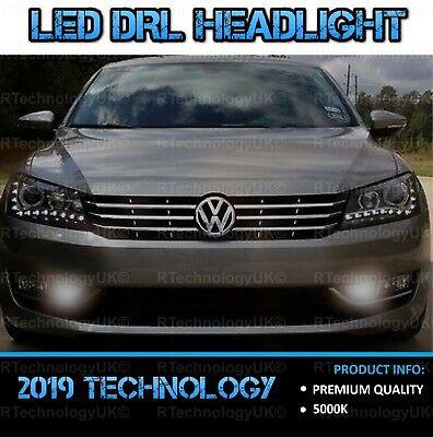 VW PASSAT B7 2010-2014 DRL LED XENON BRIGHT WHITE DAYTIME RUNNING LIGHT BULBS