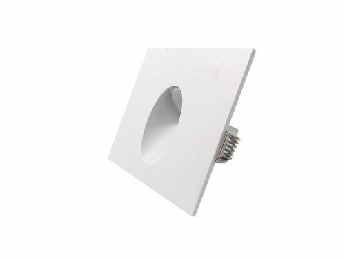 10 x 3W Led Lampe Murale Spot Carré Encastrable Coin Mur Laqué Blanc Chaud