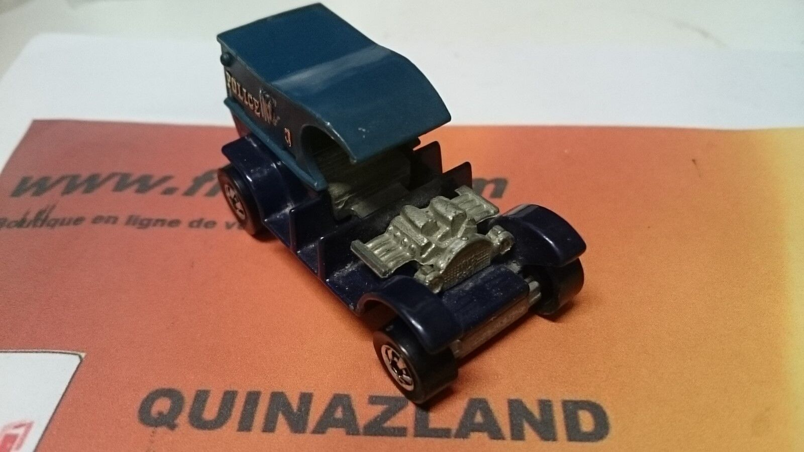 Hot Wheels Paddy Wagon Made in France Partie suppérieur blue claire   (B46)
