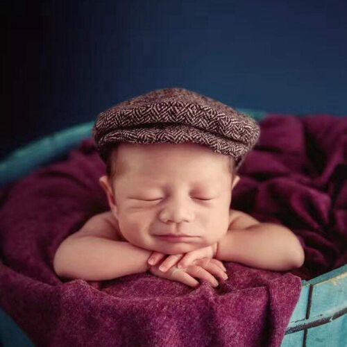 Neugeborenes Baby Fotografie Foto Requisiten Junge Mädchen Kostüm Anzug Hut E3M2