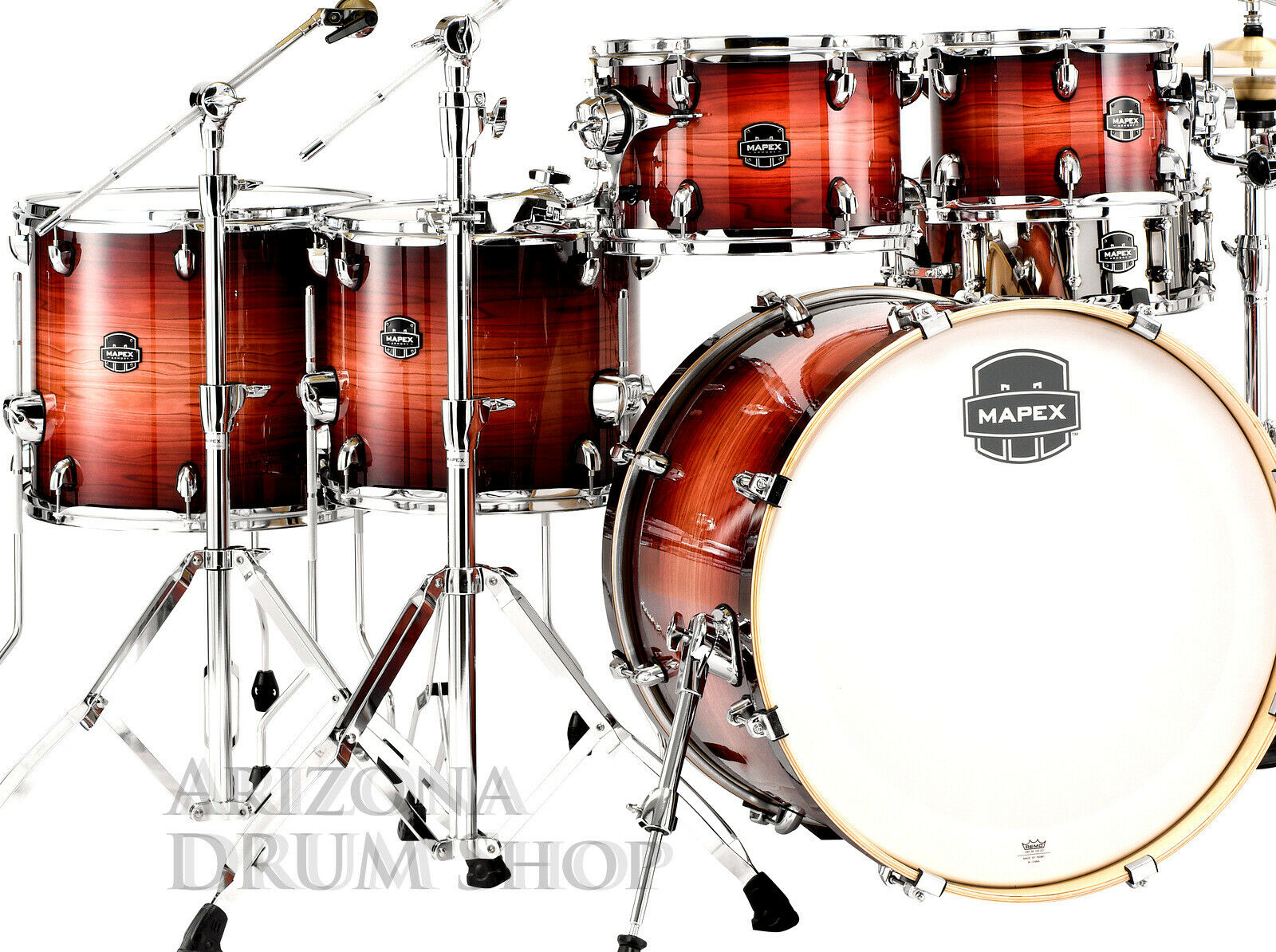 Mapex ARMORY 6.pc. Studioease FAST Shell Pack NEW 2019 rotwood Burst, In Stock