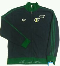 Utah Jazz Adidas Originals NBA OG Fleece Full Zip Vintage Track Jacket Size XL