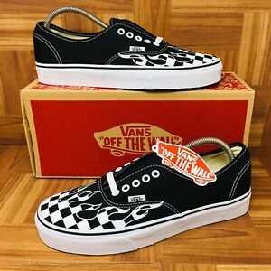34536a12f182 NEW  Vans Authentic Era (Men Size 11) Checkered Flames Skate Shoes ...