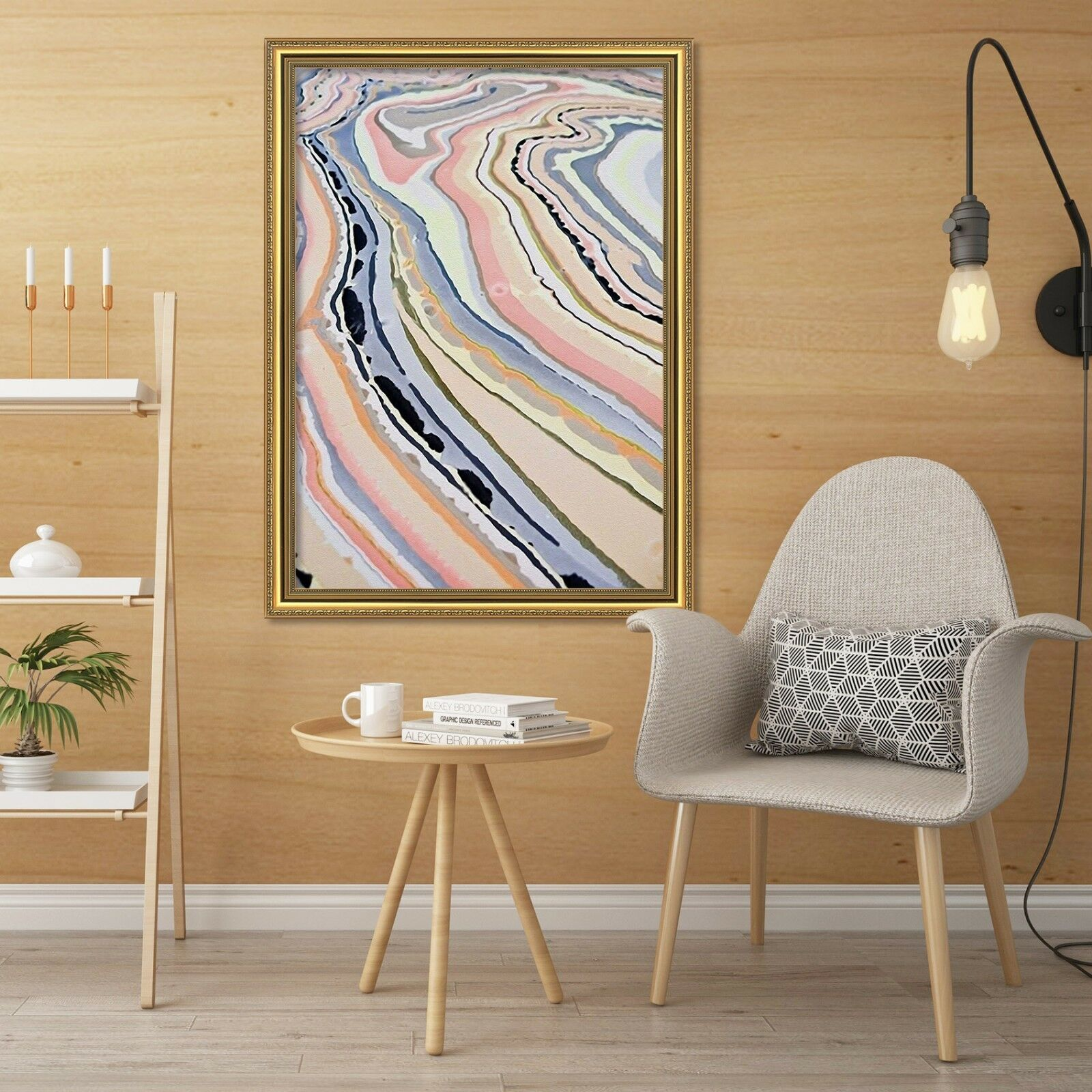 3D Abstract Texture 2 Framed Poster Home Decor Print Painting Art AJ WALLPAPER