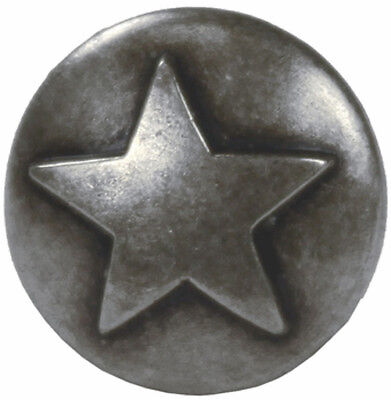 "Raised Star Concho 5//8/"" Old Silver Western"