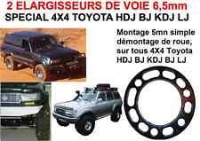 TOP! 2 ELARGISSEURS DE VOIE 6,5mm 4X4 HDJ 80 100 200 PATROL PAJERO L200 DMAX