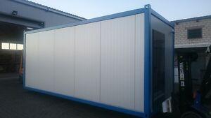 b rocontainer 6 x 2 43 meter wohncontainer mit toilette. Black Bedroom Furniture Sets. Home Design Ideas
